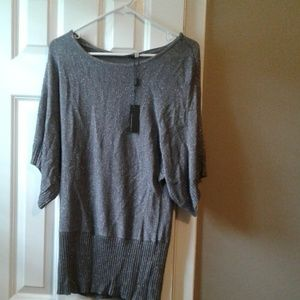 Cable and gauge silver sweater